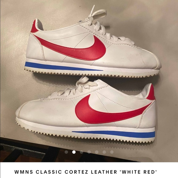 nike cortez red and white womens